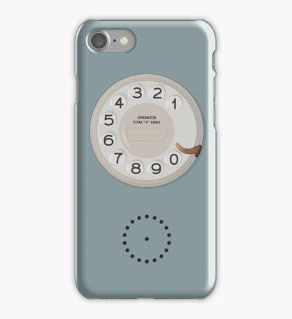 Vintage Dial Phone Blue iPhone Case/Skin