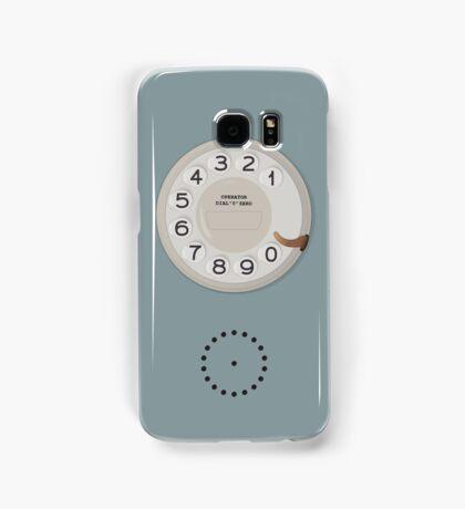 Vintage Dial Phone Blue Samsung Galaxy Case/Skin