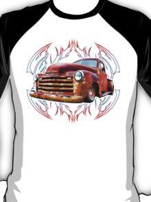 Pinstripe Rust Truck-a T-Shirt