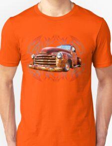 Pinstripe Rust Truck-a Unisex T-Shirt