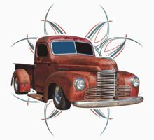 Pinstripe Rust Truck 2 Kids Clothes