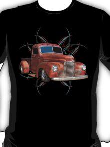 Pinstripe Rust Truck 2 T-Shirt