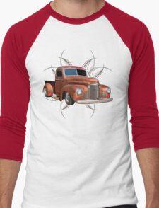 Pinstripe Rust Truck 2 Men's Baseball ¾ T-Shirt