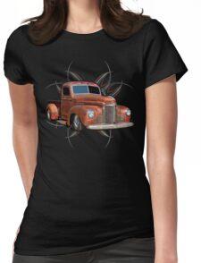 Pinstripe Rust Truck 2 Womens Fitted T-Shirt