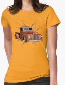 Pinstripe Rust Truck 2 Womens T-Shirt