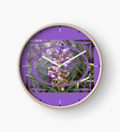 purple spring flower Clock