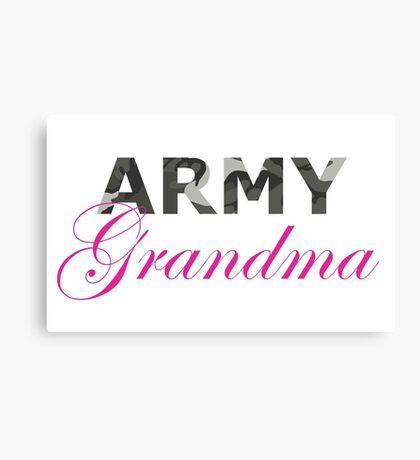 Army Grandma Canvas Print