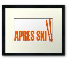 Ski, skiing, après ski, freeski, winter, snow, mountain, sport Framed Print