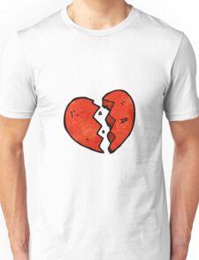 broken heart symbol Unisex T-Shirt