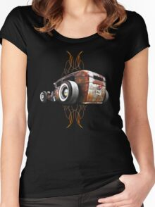 Pinstripe RAT - Rear View Women's Fitted Scoop T-Shirt