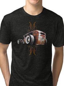 Pinstripe RAT - Rear View Tri-blend T-Shirt