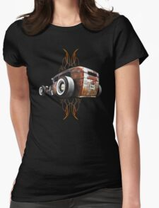 Pinstripe RAT - Rear View Womens Fitted T-Shirt