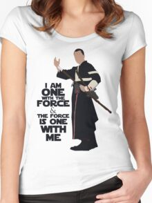 Star Wars - Chirrut Imwe I Am One With The Force And The Force Is With Me Women's Fitted Scoop T-Shirt