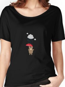 Brown Bear with Umbrella Women's Relaxed Fit T-Shirt