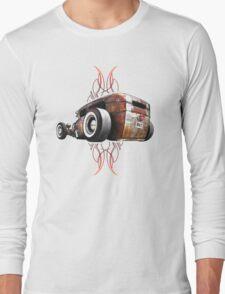 Pinstripe RAT - Rear View-a Long Sleeve T-Shirt