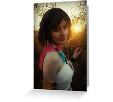 Yuna Final Fantasy X-2 Cosplay  Greeting Card
