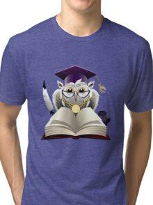 Owl in bachelor hat Tri-blend T-Shirt