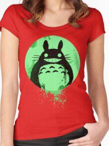 Totoro Ghibli Fanart ZOMBIE - by Mien Wayne Women's Fitted Scoop T-Shirt