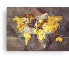 world map 35 sacred Canvas Print