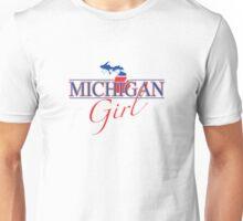 Michigan Girl - Red, White & Blue Graphic Unisex T-Shirt