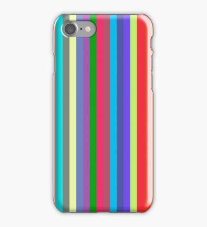 Stripey Rainbow Band iPhone Case/Skin