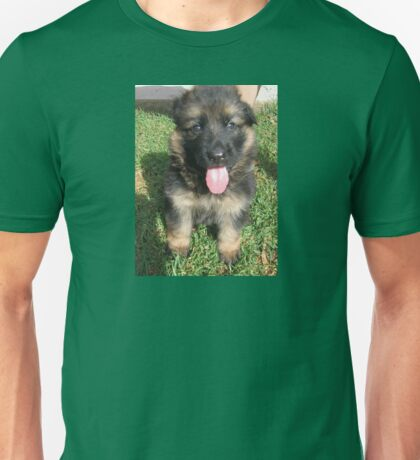GS black and tan puppy sitting Unisex T-Shirt