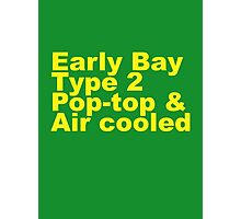Early Bay Pop Type 2 Pop Top Yellow Photographic Print