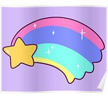 Pastel Shooting Star Poster
