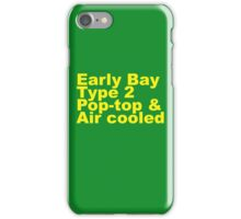 Early Bay Pop Type 2 Pop Top Yellow iPhone Case/Skin