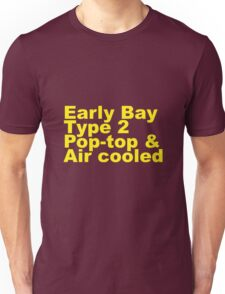 Early Bay Pop Type 2 Pop Top Yellow Unisex T-Shirt