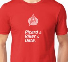 Trek Star Picard Riker Data Enterprise Starfleet Unisex T-Shirt