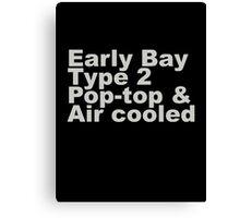 Early Bay Pop Type 2 Pop Top Grey Canvas Print