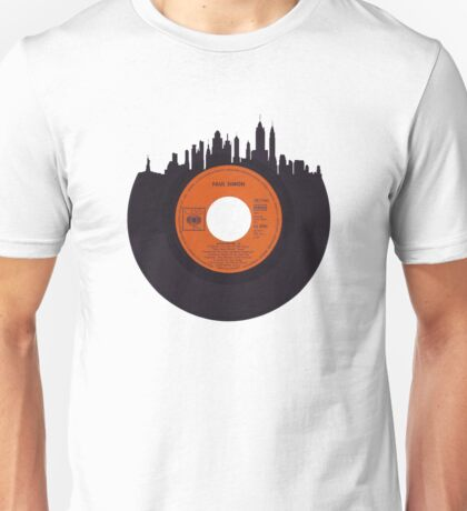 New York Skyline Vinyl Unisex T-Shirt