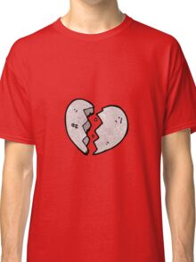 cartoon cracked stone heart Classic T-Shirt