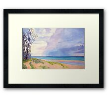Lake Michigan Summer Storm Framed Print