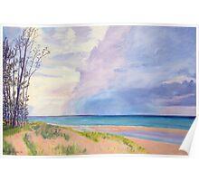 Lake Michigan Summer Storm Poster