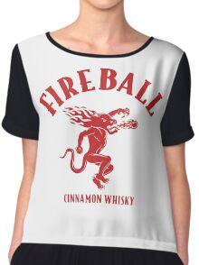 Fireball Whisky Logo Chiffon Top
