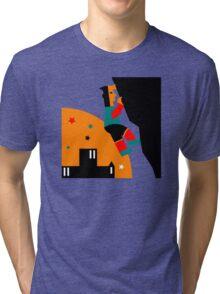 Rock Climbing Outdoor Abstract Tri-blend T-Shirt