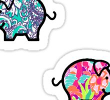Cute Patterned, Walking Piglets Pack of 4 Sticker