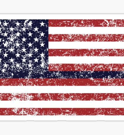 USA Flag Black Stripe Sticker