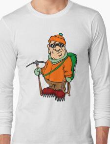 Funny Mountain Ice Climbing Long Sleeve T-Shirt