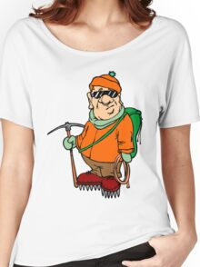 Funny Mountain Ice Climbing Women's Relaxed Fit T-Shirt