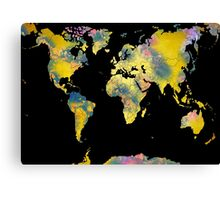 world map 36 Canvas Print