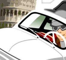 Classic Fiat 500 in Pisa caricature Sticker