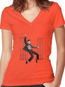Elvis Presley, Jailhouse Rock, 2 Women's Fitted V-Neck T-Shirt