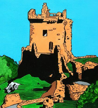 Urquhart Castle Loch Ness Abstract Sticker
