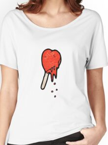 melting heart ice lolly cartoon Women's Relaxed Fit T-Shirt