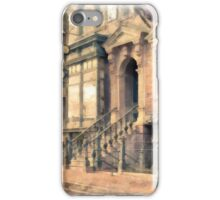 Streets of Old New York City Watercolor iPhone Case/Skin