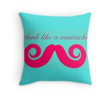 Think like a mustache pattern Throw Pillow