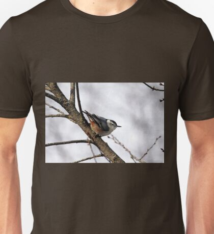 Perched Nuthatch Unisex T-Shirt